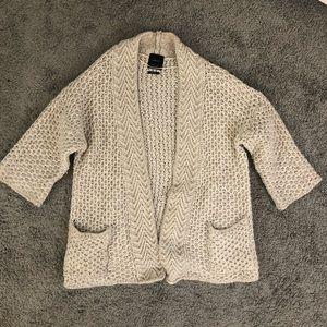 ZARA Italian wool knit cardigan